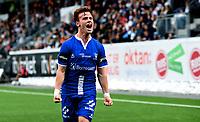 Fotball , 26 . august 2017 , NM herrer ,  Mjøndalen - Sarpsborg 1-2<br /> Tobias Heintz , S08<br /> jubler for scoring