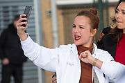 Kick-off De Hollandse 100 2020 op de Jaap Edenbaan voor de zesde editie van De Hollandse 100, die dit jaar op 15 maart in Thialf wordt gehouden. Het evenement heeft als doel de financiering van wetenschappelijk onderzoek naar de aard en behandeling van lymfklierkanker te steunen. <br /> <br /> Op de foto:   Stijn Fransen