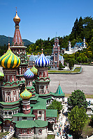 Tobu World Square, Kremlin Replica - Tobu World Square is a theme park near Nikko and Kinugawa Onsen. The theme park boasts 42 exquisitely crafted scale models of famous UNESCO  Heritage Sites, complete  with 140,000 miniature people.  Along with the World Heritage Sites, more mundane buildings are Tokyo Station, Narita Airport and Tokyo Dome, along with show pavilions for various hokey performances.