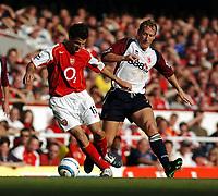 Fotball<br /> Premier League 2004/05<br /> Arsenal v Middlesbrough<br /> Highbury<br /> 22. august 2004<br /> Foto: Digitalsport<br /> NORWAY ONLY<br /> RAY PARLOUR  MIDDLESBROUGH FRANCESC FABREGAS ARSENAL