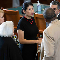 Texas Senate action on Monday, May 17, 2021 showing Sen. Carol Alvarado, D-Houston