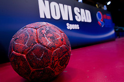 Ball during practice session of Slovenia National Handball team during Main Round of 10th EHF European Handball Championship Serbia 2012, on January 21, 2012 in Spens Sports Center, Novi Sad, Serbia. (Photo By Vid Ponikvar / Sportida.com)