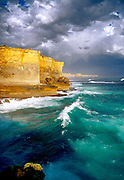 """""""Golden Cliffs"""" Situated in the Port Campbell Nation Park.<br /> This rugged stretch of Coastline gets battered by extremely large surf.<br /> The cliffs have semi regular falls ,creating """"stacks """" such as the 12 Apostles"""