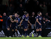 West Ham United players celebrate the equalising goal which VAR ruled out <br /> <br /> Photographer Rich Linley/CameraSport<br /> <br /> The Premier League - Sheffield United v West Ham United - Friday 10th January 2020 - Bramall Lane - Sheffield <br /> <br /> World Copyright © 2020 CameraSport. All rights reserved. 43 Linden Ave. Countesthorpe. Leicester. England. LE8 5PG - Tel: +44 (0) 116 277 4147 - admin@camerasport.com - www.camerasport.com