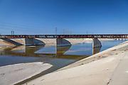 Los Angeles River, Long Beach, California, USA