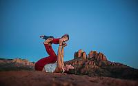 Danielle Fazio with Matteo Hawk Fazio at Cathedral Rock, Sedona - Arizona
