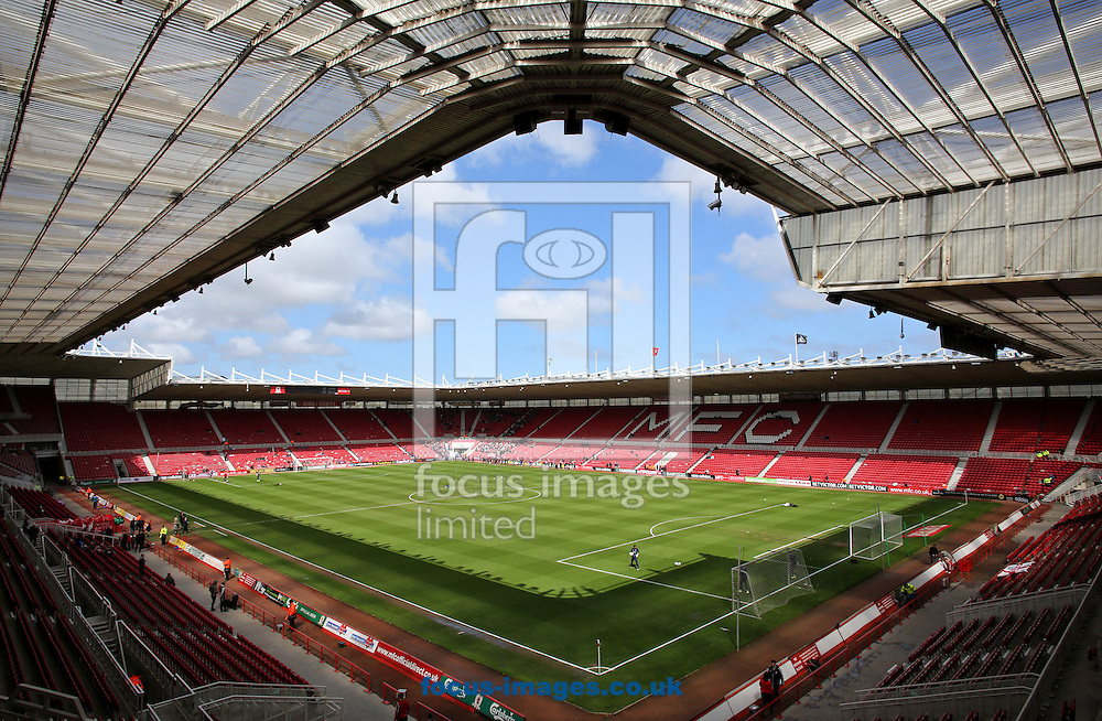 Picture by Paul Gaythorpe/Focus Images Ltd +447771 871632.27/04/2013.The Riverside Stadium, Middlesbrough before the npower Championship match between Middlesbrough and Charlton Athletic.