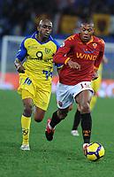 Baptista (roma) Luciano (Chievo)<br /> Roma vs Chievo<br /> Campionato calcio Serie A<br /> Stadio Olimpico, Roma, 09/01/2010<br /> Photo Antonietta Baldassarre Insidefoto