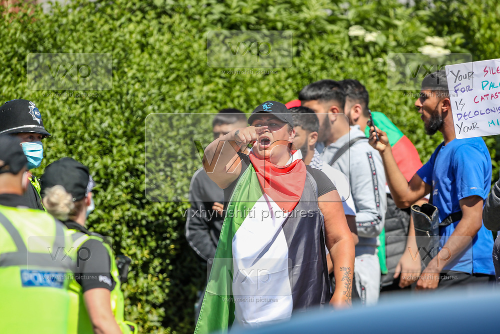Birmingham, United Kingdom, June 15, 2021: People gathered to support Palestine Action activists while Members of Protestor Removal Police Unit are seen entering the Arconic site factory in Birmingham on Tuesday, June 15, 2021. (VX Photo/ Vudi Xhymshiti)
