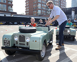Prince Harry attends the Jaguar Land Rover Driving Challenge, and takes part in a children's driving event, as part of the Invictus Games 2017 at the Distillery District, Toronto, Ontario, Canada, on the 23rd September 2017. 23 Sep 2017 Pictured: Prince Harry attends the Jaguar Land Rover Driving Challenge, and takes part in a children's driving event, as part of the Invictus Games 2017 at the Distillery District, Toronto, Ontario, Canada, on the 23rd September 2017. . Photo credit: James Whatling / MEGA TheMegaAgency.com +1 888 505 6342