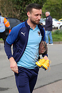 AFC Wimbledon defender Luke O'Neill (2) arriving for the game during the EFL Sky Bet League 1 match between AFC Wimbledon and Bolton Wanderers at the Cherry Red Records Stadium, Kingston, England on 7 March 2020.