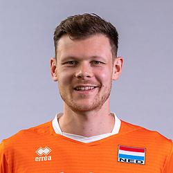 Michael Parkinson of Netherlands, Photoshoot selection of Orange men's volleybal team season 2021on may 11, 2021 in Arnhem, Netherlands (Photo by RHF Agency/Ronald Hoogendoorn)