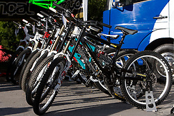 Bikes at MTB Downhill European Championships, on June 13, 2009, at Kranjska Gora, Slovenia. (Photo by Vid Ponikvar / Sportida)