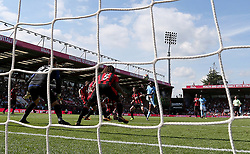 Manchester City's Raheem Sterling scores his side's second goal during the Premier League match at the Vitality Stadium, Bournemouth.