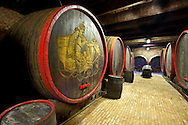 Kovacs wine cellars' wine barrels and bottles  ( Kovács Borház ) Hajos ( Hajós); Hungary; .<br /> <br /> Visit our HUNGARY HISTORIC PLACES PHOTO COLLECTIONS for more photos to download or buy as wall art prints https://funkystock.photoshelter.com/gallery-collection/Pictures-Images-of-Hungary-Photos-of-Hungarian-Historic-Landmark-Sites/C0000Te8AnPgxjRg