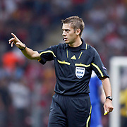 Referee's Clement TURPIN during their UEFA EURO 2012 Qualifying round Group A soccer match Turkey betwen Kazakhstan at TT Arena Istanbul September 02, 2011. Photo by TURKPIX
