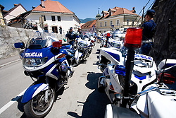 Police at 2nd stage of Tour de Slovenie 2009 from Kamnik to Ljubljana, 146 km, on June 19 2009, Slovenia. (Photo by Vid Ponikvar / Sportida)