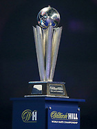 World Championship Trophy during the PDC World Darts Championship Final at Alexandra Palace, London, United Kingdom on 1 January 2018. Photo by Chris Sargeant.