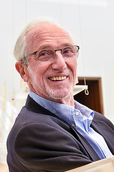 """© Licensed to London News Pictures. 12/09/2018. LONDON, UK. Internationally renowned architect and Honorary Royal Academician Renzo Piano at a preview of """"Renzo Piano: The Art of Making Buildings"""", an exhibition comprising 16 of his most significant projects.  The exhibition runs 15 September to 20 January 2019 at the Royal Academy of Arts in Piccadilly.  Photo credit: Stephen Chung/LNP"""