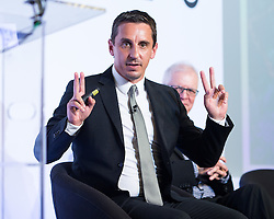 © Licensed to London News Pictures . 28/07/2016 . Manchester , UK . GARY NEVILLE at the launch of the St Michael's city centre development , at the Lord Mayor's Parlour in Manchester Town Hall . Backed by The Jackson's Row Development Partnership (comprising Gary Neville , Ryan Giggs and Brendan Flood ) along with Manchester City Council , Rowsley Ltd and Beijing Construction and Engineering Group International , the Jackson's Row area of the city centre will be redeveloped with a design proposed by Make Architects . Photo credit : Joel Goodman/LNP