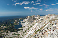 The views from the top of Medicine Bow Peak were stunning. This was a fairly easy hike considering the mountain is over 12,000 feet high. The 7 mile loop trail traverses the top of the ridge and descends next to the lakes.