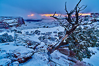 Orange Canyon Winter sunset in Canyonlands National Park.