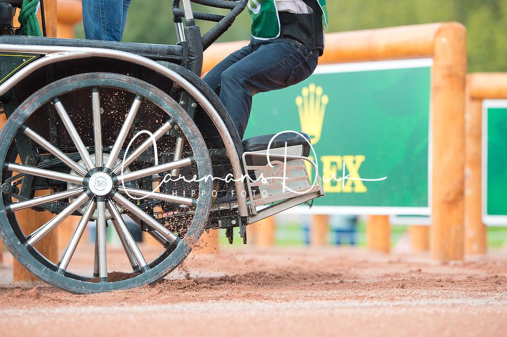 Jozsef Dobrovitz, (HUN), Amadeus, Carlo, Kinzhal, Torino, Waltstar - Driving Marathon - Alltech FEI World Equestrian Games™ 2014 - Normandy, France.<br /> © Hippo Foto Team - Jon Stroud<br /> 06/09/2014