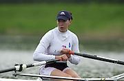 Hazewinkel. BELGUIM  GBR W1X. Rebbeca ROMERO. 2004 GBR Rowing Trials - Rowing Course, Bloso, Hazewinkel. BELGUIM. [Mandatory Credit Peter Spurrier/ Intersport Images]