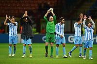 "Malaga players celebrate at the end of the match<br /> Milano 6/11/2012 Stadio ""Giuseppe Meazza - San Siro""<br /> Football Calcio 2012/2013 Champion League Group Stage group C<br /> Milan Vs Malaga<br /> Foto Andrea Staccioli Insidefoto"