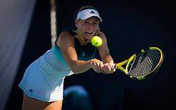 March 22, 2019 - Miami, FLORIDA, USA - Caroline Wozniacki of Denmark in action during the second-round at the 2019 Miami Open WTA Premier Mandatory tennis tournament (Credit Image: © AFP7 via ZUMA Wire)