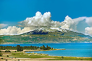 Mount Süphan  , the second highest Volcano in Turkey After Arat at 4058m. North Shore of Lake Van, Turkey 4 .<br /> <br /> If you prefer to buy from our ALAMY PHOTO LIBRARY  Collection visit : https://www.alamy.com/portfolio/paul-williams-funkystock/lakevanturkey.html<br /> <br /> Visit our TURKEY PHOTO COLLECTIONS for more photos to download or buy as wall art prints https://funkystock.photoshelter.com/gallery-collection/3f-Pictures-of-Turkey-Turkey-Photos-Images-Fotos/C0000U.hJWkZxAbg