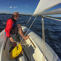 Ben Wiltsie sails a laser on Lake of the Woods, Ontario, Canada.
