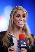 Azteca Deportes sports reporter Ines Sainz reports from radio row at the NFL Super Bowl XLVII Media Center in the Ernest N. Morial Convention Center on Thursday, Jan. 31, 2013 in New Orleans. ©Paul Anthony Spinelli