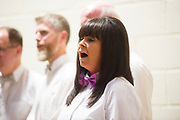 24/06/2017 REPRO FREE:   Antoinette Van Ravestijn from The Notorious Choir at their summer Concert at Maree Community Centre in aid of Road To Hope and the Brothers of Charity Sri Lankan orphanage . Aileen Henderson, Jacqui McCarthy and Tommy Keane and The Sheds  also performed on the night. Photo:Andrew Downes, xposure .