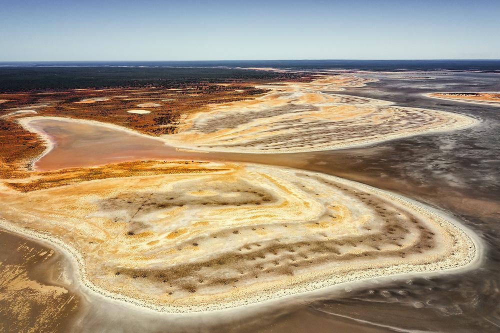Salt Lake in Australian outback