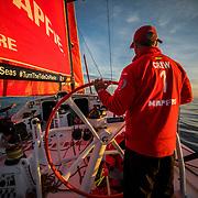 Leg Zero, St. Malo - Lisbon:  on board xx, . Photo by Jen Edney/Volvo Ocean Race. 15August, 2017
