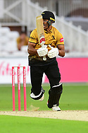 Ben Mike of Leicestershire during the Vitality T20 Blast North Group match between Nottinghamshire County Cricket Club and Leicestershire County Cricket Club at Trent Bridge, Nottingham, United Kingdom on 4 September 2020.