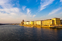 Panoramic View of Budapest in Hungary.