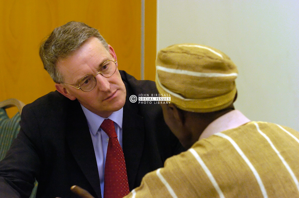Hilary Benn MP at International Solidarity Conference set up by Northern TUC; Newcastle 2005 UK