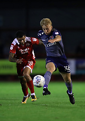 Charlton Athletic's George Lapsie (right) in action