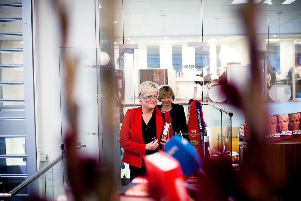 Oslo, Norge, 24.10.2012. Kristin Halvorsen presenterer bok på Cappelen Damm. Foto: Christopher Olssøn.