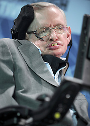 Cosmologist Stephen Hawking attends the New Space Exploration Initiative 'Breakthrough Starshot' Announcement at One World Observatory in New York City, NY, USA on April 12, 2016 . Photo by Dennis Van Tine/ABACAPRESS.COM    542706_024 New York City Etats-Unis United States