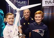 02/07/2017 REPRO FREE:   Cian Kirrane and Ethan Elwood from Oranmore with Martha Gosch MaREI, Centre for Renewable energy at Seafest 2017, the National Maritime Festival which  in Galway.<br /> . Photo:Andrew Downes, xposure .