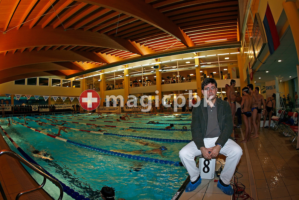 Christophe Pellandini managing director of the Centro Sportivo Atlantide and head coach of Team Atlantide & Locarno is pictured on day one at the Swiss Short-Course Swimming Championships at the Centro Sportivo Atlantide in Savosa, Switzerland, Friday, November 24, 2006. (Photo by Patrick B. Kraemer / MAGICPBK)