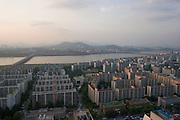 Sunset over Han River. Namsan in the background.