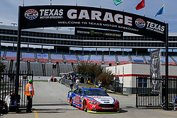 November 2, 2018 - Fort Worth, TX, U.S. - FORT WORTH, TX - NOVEMBER 02: Monster Energy NASCAR Cup Series driver Joey Logano (22) drives through the garage area during practice for the AAA Texas 500 on November 02, 2018 at the Texas Motor Speedway in Fort Worth, Texas. (Photo by Matthew Pearce/Icon Sportswire) (Credit Image: © Matthew Pearce/Icon SMI via ZUMA Press)