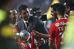 May 13, 2017 - Lisbon, Portugal - Benfica's head coach Rui Vitoria celebrating their victory in the Portuguese League at Luz  Stadium in Lisbon on May 13, 2017. Benfica wins the title for the 36th time. (Credit Image: © Carlos Costa/NurPhoto via ZUMA Press)