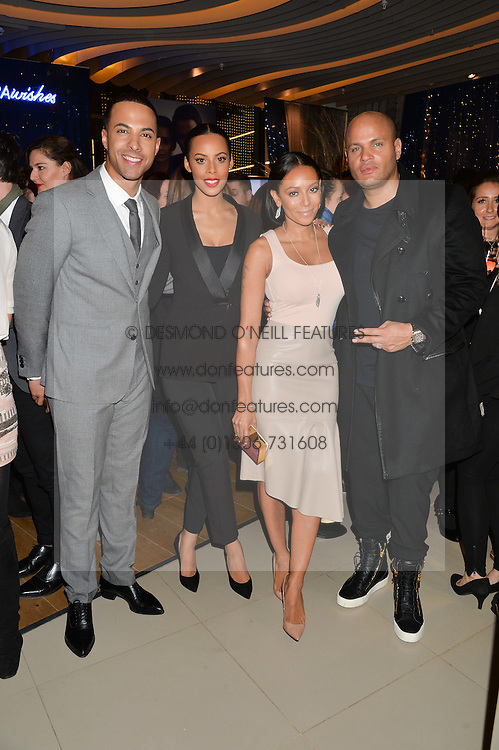 Left to right, MARVIN & ROCHELLE HUMES and MEL B and STEPHEN BELAFONTE at the #PandoraWishes Campaign Launch Event, Pandora Marble Arch flagship store, London on 12th November 2014.