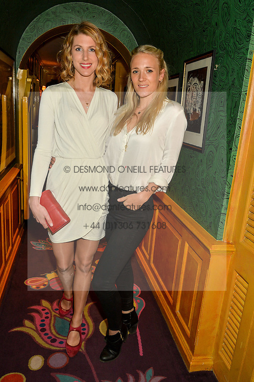 Left to right, SUSANNA WARREN and CARLY MOSS at the 2nd Bright Young Things Back In London party held at Annabel's, 44 Berkeley Square, London on 11th February 2016.