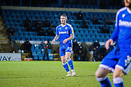 Gillingham FC midfielder Scott Robertson (20) watches play during the EFL Sky Bet League 1 match between Gillingham and Crewe Alexandra at the MEMS Priestfield Stadium, Gillingham, England on 26 January 2021.